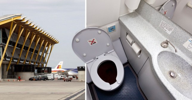 A MUMMIFIED foetus has been discovered in the toilet of a plane at Madrid's international airport. Police made the gruesome find in the aircraft at Barajas' Airport Terminal 4 after it touched down in the Spanish capital from Cuba. Tests are now taking place to confirm whether the foetus is that of an ape, as investigators suspect, or is human. Respected Spanish daily El Mundo said investigators had their doubts because of the state it was in.