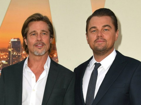 Brad Pitt and Leonardo DiCaprio in ultimate bromance as they own Once Upon A Time In Hollywood premiere