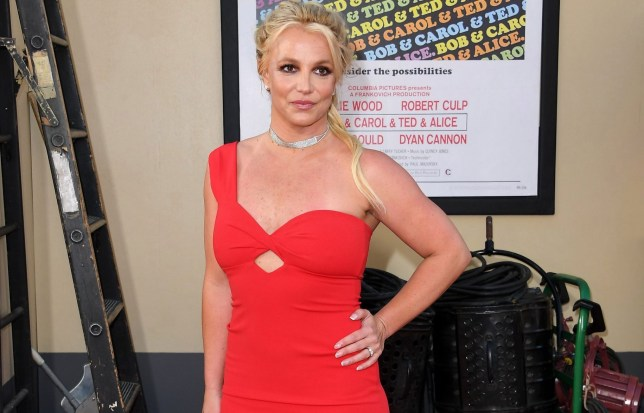 "HOLLYWOOD, CALIFORNIA - JULY 22: Britney Spears arrives at the Sony Pictures' ""Once Upon A Time...In Hollywood"" Los Angeles Premiere on July 22, 2019 in Hollywood, California. (Photo by Steve Granitz/WireImage)"