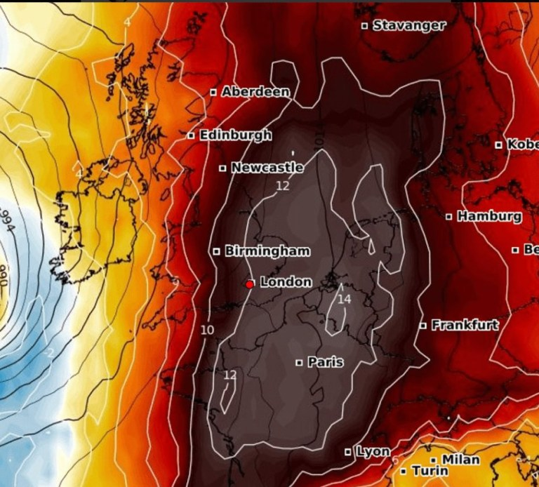 Map Of Uk Weather.Met Office Uk Weather Forecast As Heatwave Hits Britain Ahead Of