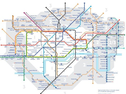 Walking map of London so you don't have to melt on the hot Tube