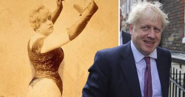Boris Johnson as an 1800s prostitute