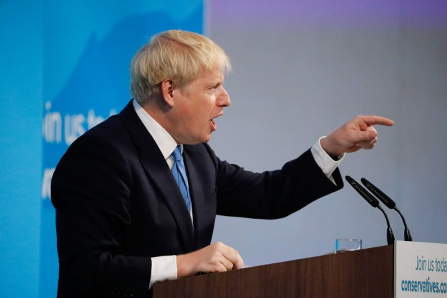Boris Johnson delivering his victory speech after being voted as next prime minister