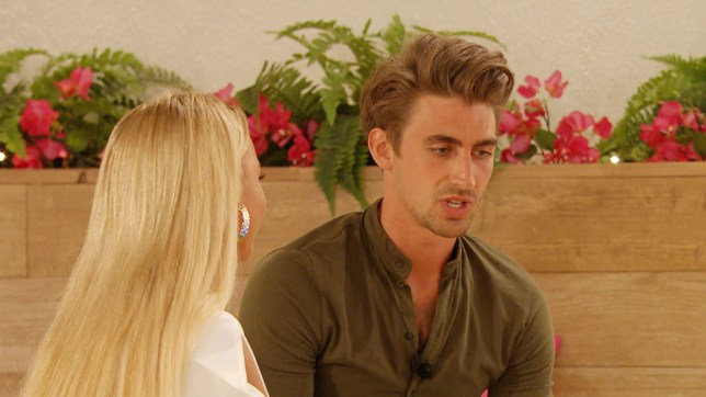 Editorial use only Mandatory Credit: Photo by ITV/REX (10345249k) Chris Taylor and Harley Brash chat. 'Love Island' TV Show, Series 5, Episode 44, Majorca, Spain - 23 Jul 2019 The Villa Erupts After Jordan?s Head is Turned by India Molly-Mae and Tommy Reflect on the Revelations From the Recent Challenge Curtis and Maura Head to the Hideaway for Some Alone Time Chris Tries to Make Amends with Harley