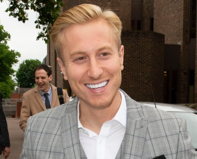 Mandatory Credit: Photo by Grant Falvey/LNP/REX (10265402e) Kris Boyson Kris Boyson at Medway Magistrates Court, Kent, UK - 31 May 2019 Katie Prices's boyfriend Kris Boyson Leaving Medway Magistrates Court in Kent with a smile on his face. He is charged with using threatening or abusive language and behaviour against a police officer.