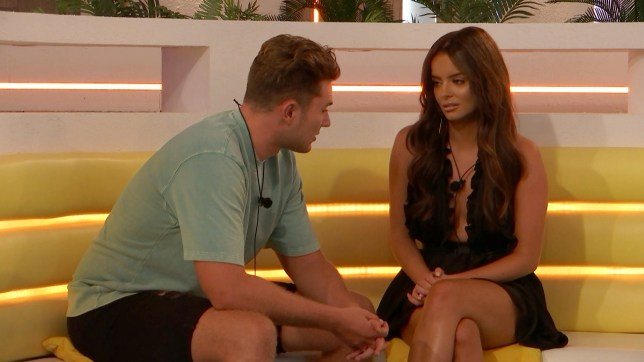 Curtis Pritchard and Maura Higgins on Love Island 2019