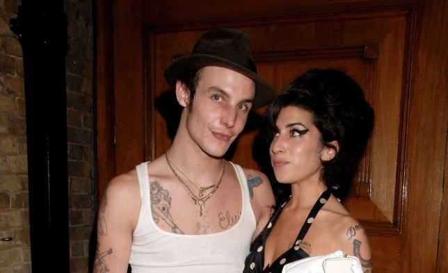LONDON - JUNE 18: (EMBARGOED FOR PUBLICATION IN UK TABLOID NEWSPAPERS UNTIL 48 HOURS AFTER CREATE DATE AND TIME) Blake Fielder-Civil and Amy Winehouse attend the MOJO Honours List awards, recognising career-long contributions to popular music, at The Brewery June 18, 2007 in London, England. (Photo by Dave M. Benett/Getty Images)