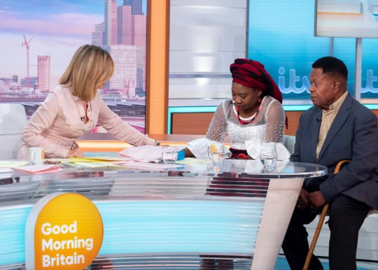 Linda Burke-Monerville and John Burke-Monerville on Good Morning Britain