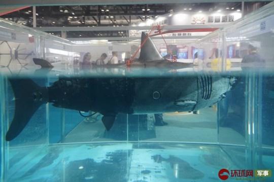 China construindo robô bizarro drone tubarão biônico