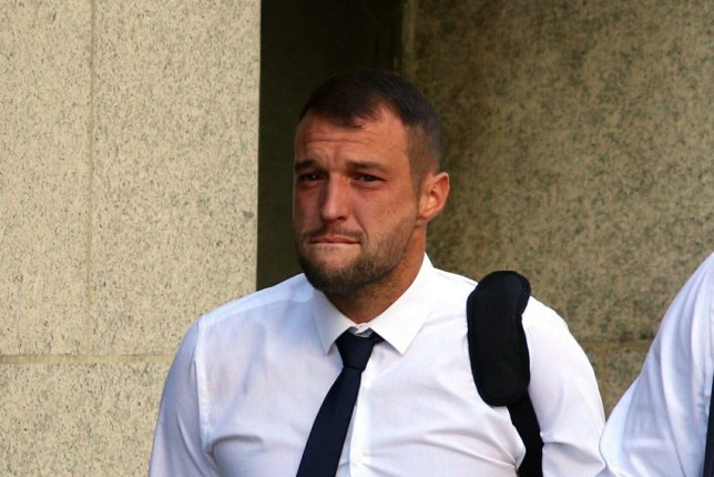 Pic shows Luke McErlean, arriving at the Old Bailey. A man admitted mowing down a family member of actress Linda Bassett while high on drugs at the Old Bailey. Luke McErlean, 35, pleaded guilty to causing death by dangerous driving on the 9th of October last year. He killed Dominic Basset, 41, on the A20 in Kent. Family members, including Call the Midwife actress Linda Basset, attended the Old Bailey to see McErlean plead guilty. DUE TO BE SENTENCED TODAY. 29.7.19 SEE STORY CENTRAL NEWS
