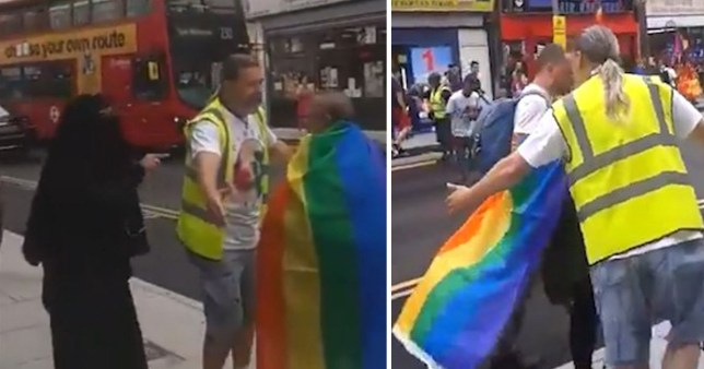 Woman arrested following video of homophobic abuse at Pride March