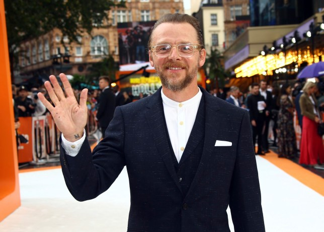 Actor Simon Pegg poses for photographers upon arrival at the UK premiere for Once Upon A Time in Hollywood, at a central London cinema, Tuesday, July 30, 2019. (Photo by Joel C Ryan/Invision/AP)