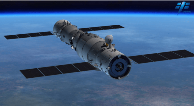 A representation of the Tiangong-1 space station (Image: CSME)