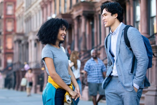 Yara Shahidi and Charles Melton in The Sun Is Also A Star