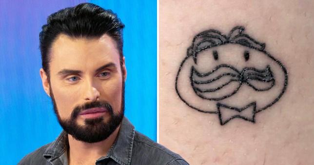 Rylan Clark and the Pringles tattoo