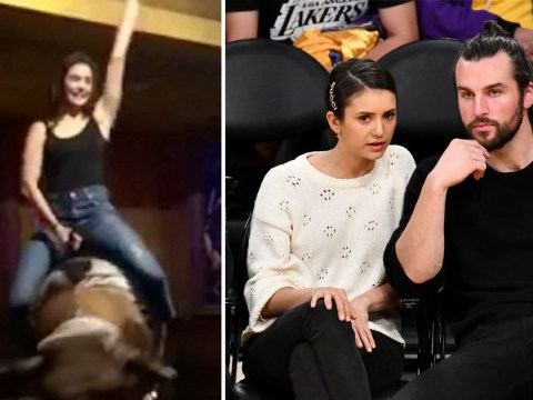 Vampire Diaries' Nina Dobrev manages just 10 seconds on mechanical bull and we can relate