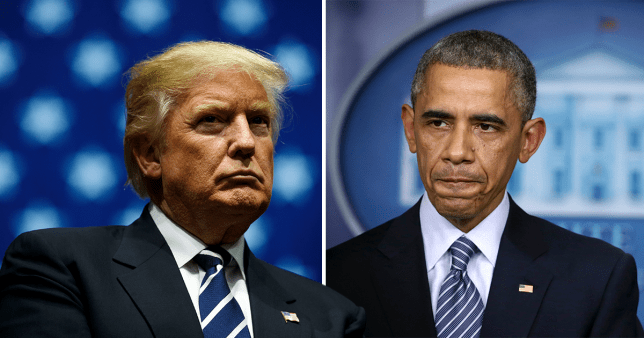 Donald Trump is accused of scrapping the Iran nuclear deal to spite former president Barack Obama
