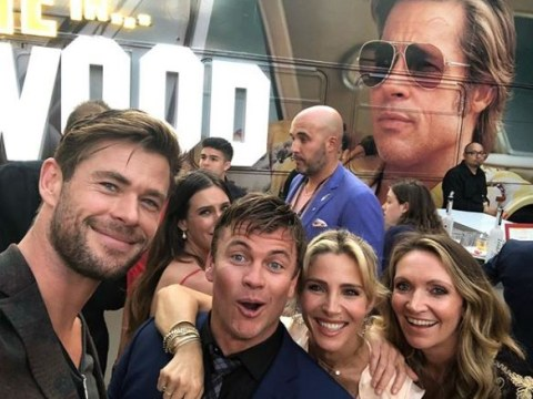 Chris Hemsworth's family attempt at Brad Pitt selfie is hilariously pure