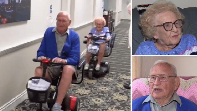 John and Phyllis Cook got married last week aged 100 and 102. The couple fell in love after meeting one another at their assisted living facility