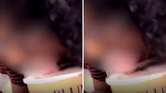 A girl filmed licking ice cream in a shop before putting it back in the freezer has been nabbed by police, who have refused to name her because she is under 17