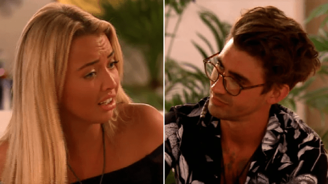 Love Island's Harley Brash storms off in row with Chris Taylor as he suggests he was 'meant to be with' India Reynolds