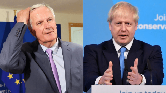 Michel Barnier will attend meetings tomorrow to discuss Boris Johnson's election (Picture: Getty Images/ Reuters)