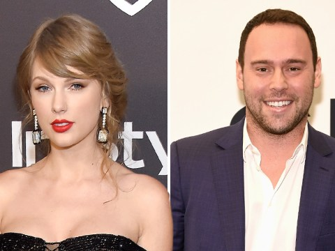 What has Taylor Swift said about Scooter Braun and how has he responded?