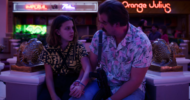 Stranger Things' Hopper and Eleven