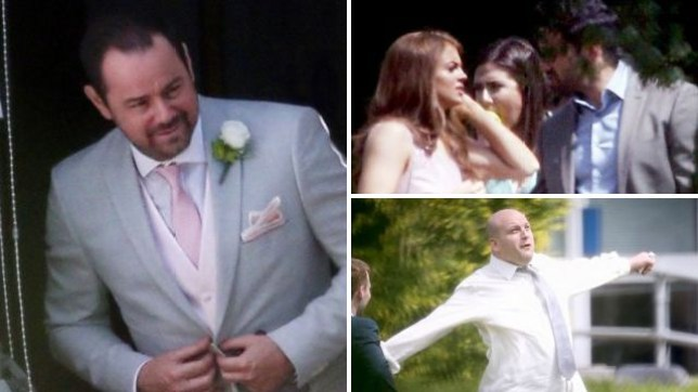 Mick Carter (Danny Dyer) at Halfway's wedding