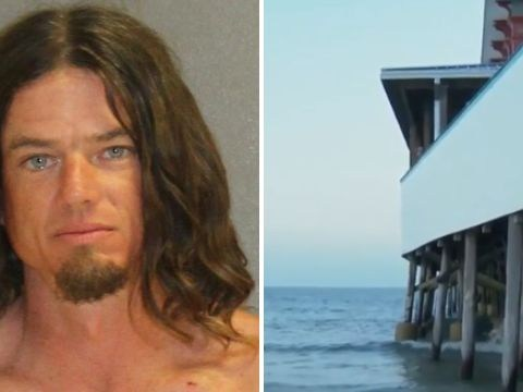 Dad 'hurled terrified boy, 5, off deep pier into ocean to teach him how to swim'