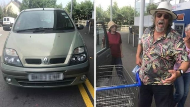 A dog was left inside a car outside Tesco in the heat