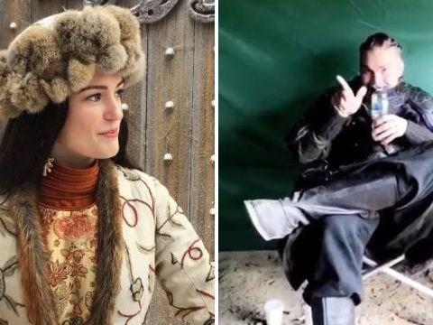 Vikings' Alicia Agneson believes Marco Ilsø 'started' Bottle Cap Challenge craze in BTS video