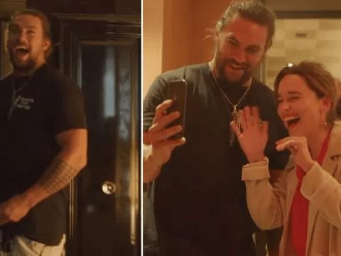 Emilia Clarke FaceTime calls Jason Momoa's wife Lisa Bonet at surprise 40th birthday party in London