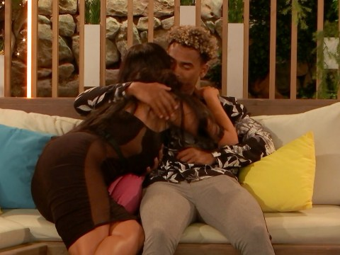 Love Island's Anna Vakili kisses Jordan Hames on the neck as she admits she 'can't switch feelings off'