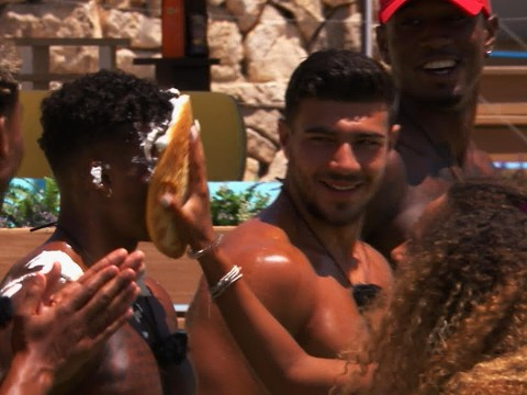 Love Island's Ovie Sokie and Amber Gill get their revenge on Anna Vakili and Michael Griffiths in pie challenge