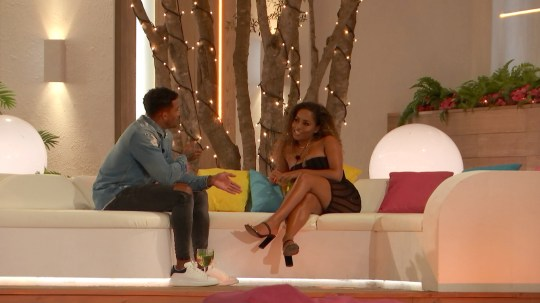 Amber and Michael in Love Island