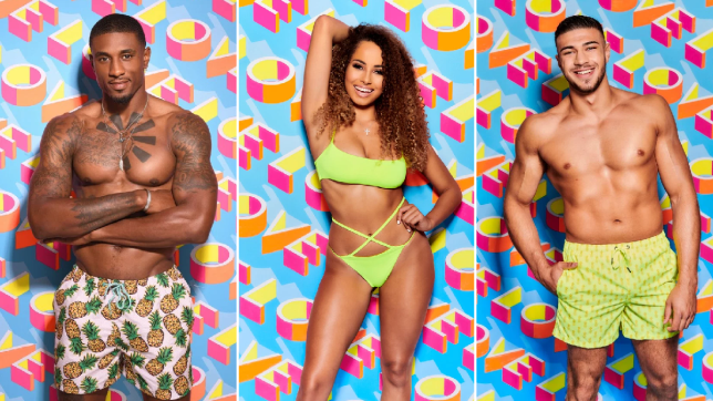 Comp of Ovie Soko, Amber Rose Gill and Tommy Fury from Love Island 2019