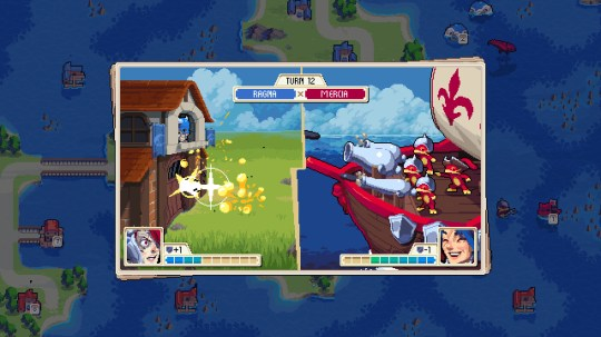 Wargroove - the battles play out just like Advance Wars