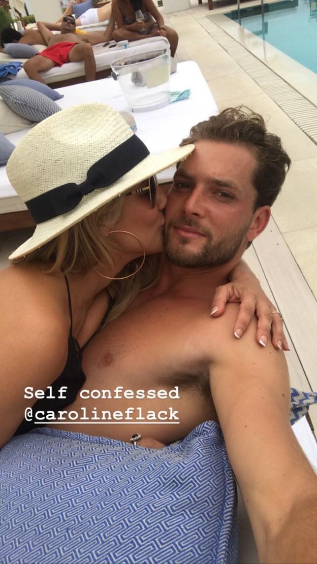 Lewis Burton and Caroline Flack