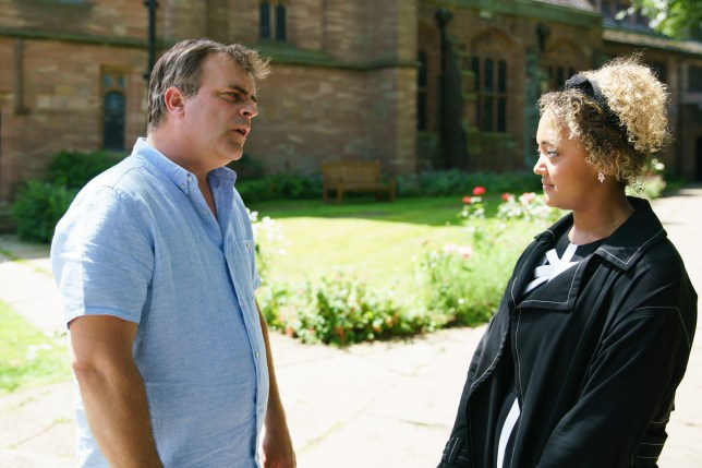 Emma and Steve in Coronation Street