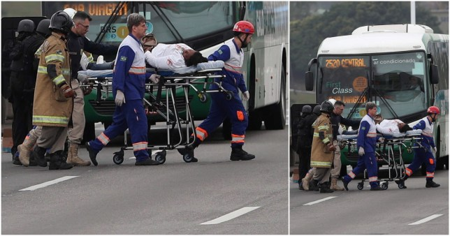 Bus passengers held hostage by man threatening to burn them alive