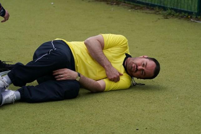 Mick collapses in EastEnders