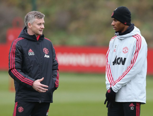 Ole Gunnar Solskjaer is working with Marcus Rashford on his finishing (Picture: Getty)