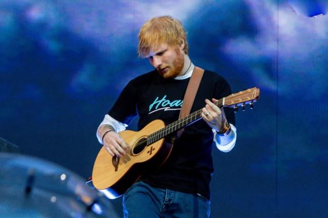 Ed Sheeran in concert