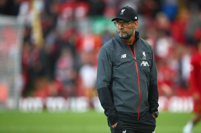 Jurgen Klopp looks on during Liverpool's win against Norwich