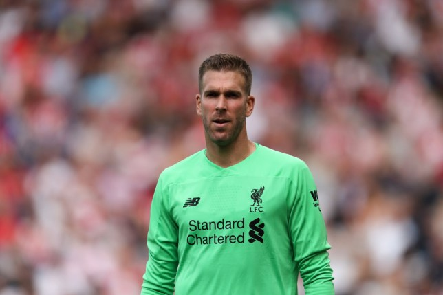 Adrian watches on during Liverpool's game against Southampton