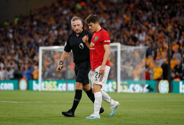 Daniel James was booked for simulation against Wolves (Picture: Getty)