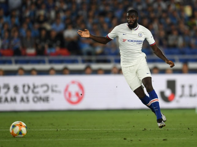 Tiemoue Bakayoko plays for Chelsea during pre-season
