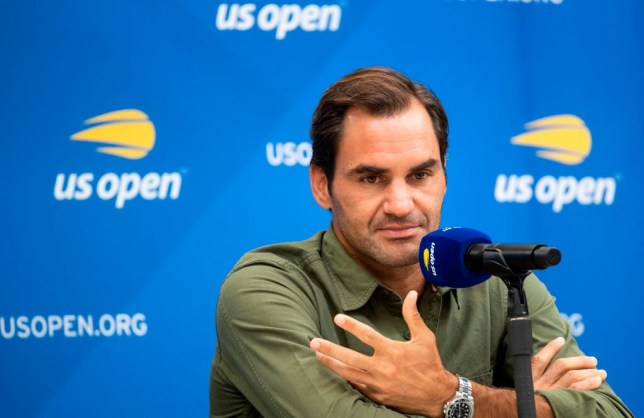 Roger Federer speaks to the media ahead of the US Open