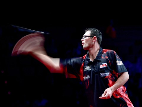 Damon Heta revels in 'mental' Brisbane Darts Masters win after beating Rob Cross in dramatic final